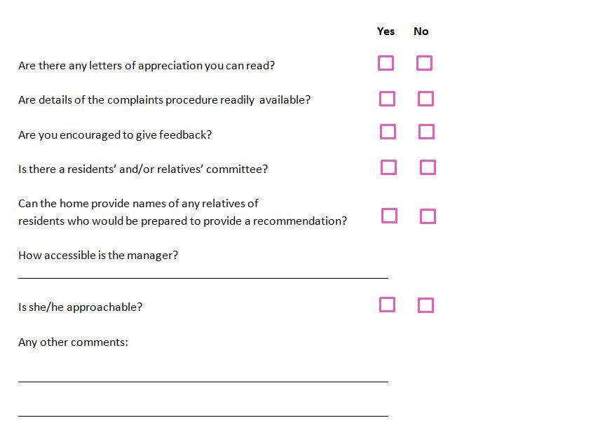 Complaints and feedbacks
